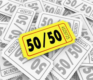 50 50 Raffle Tickets